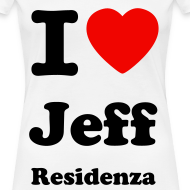 Ontwerp ~ Women Shirt: I love Jeff Residenza