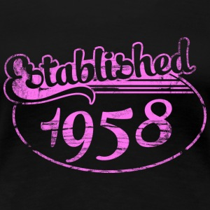 established 1958 dd (es) Camisetas - Camiseta premium mujer