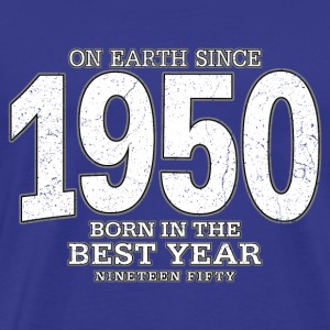 On Earth since 1950 (white oldstyle) - Männer Premium T-Shirt