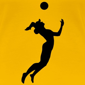 Beachvolley T-Shirts - Premium-T-shirt dam