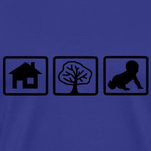 house_tree_child1 - Männer Premium T-Shirt