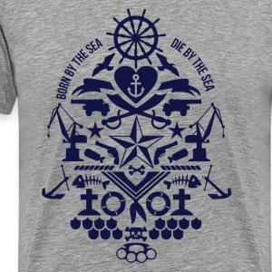 born_by_the_sea T-Shirts - Men's Premium T-Shirt