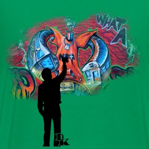 Kelly green graffiti is art T-Shirts - Men's Premium T-Shirt