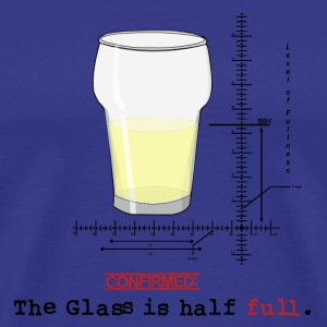 Glass is half full T-shirts - Premium-T-shirt herr