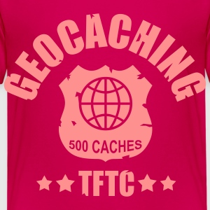 geocaching - 500 caches - TFTC / 1 color T-shirts - Premium-T-shirt barn