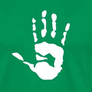 Heart Hand Grabber handprint - Men's Premium T-Shirt
