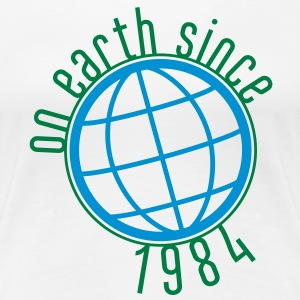 Birthday Design - (thin) on earth since 1984 (uk) T-Shirts - Women's Premium T-Shirt
