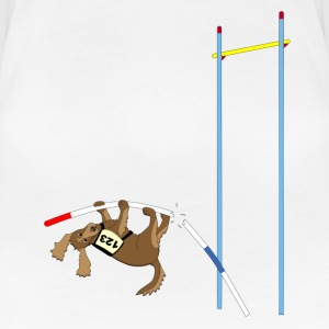 Pole vault  dog T-Shirts - Women's Premium T-Shirt