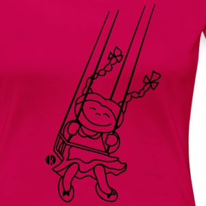 Mädchen auf Schaukel - little girl on a swing T-shirts - Vrouwen Premium T-shirt