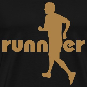 Black Running, Runner T-Shirts - Men's Premium T-Shirt