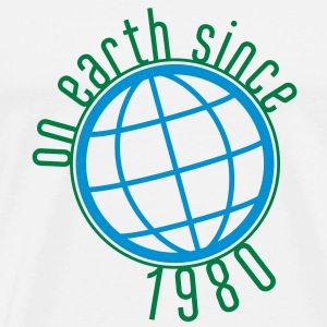 Birthday Design - (thin) on earth since 1980 (uk) T-Shirts - Men's Premium T-Shirt