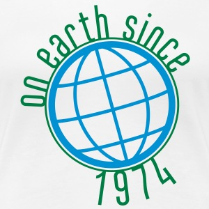 Birthday Design - (thin) on earth since 1974 (uk) T-Shirts - Women's Premium T-Shirt