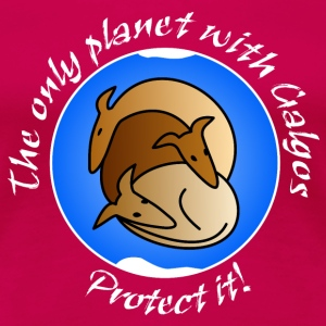 The only planet with Galgos T-Shirts - Frauen Premium T-Shirt