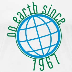 Birthday Design - (thin) on earth since 1967 (dk) T-shirts - Dame premium T-shirt