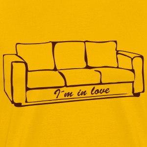 I'm in love, sofa, couch, ottoman, recliner, sofa, couch, bed, chill out, lounge, grandma - Men's Premium T-Shirt