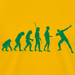 Evolution Usain Bolt T-shirts - Mannen Premium T-shirt