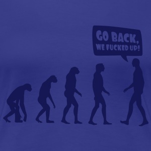 Evolution fucked up T-shirts - Vrouwen Premium T-shirt