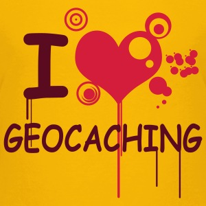 I love geocaching / 2 colors T-shirts - Premium-T-shirt tonåring
