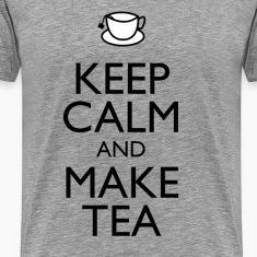 Keep calm & make tea t-shirt