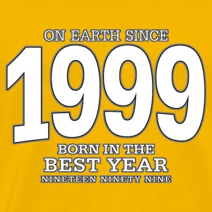 On Earth since 1999 (white) - Männer Premium T-Shirt