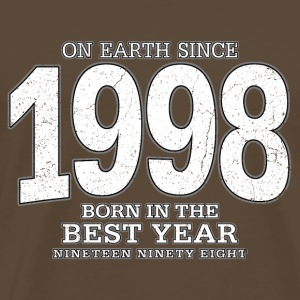 On Earth since 1998 (white oldstyle) - Männer Premium T-Shirt