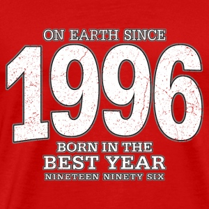 On Earth since 1996 (white oldstyle) - Männer Premium T-Shirt