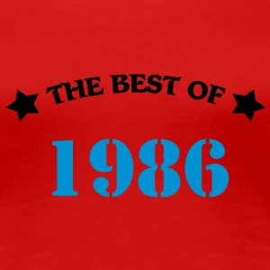 The best of 1986 T-skjorter - Premium T-skjorte for kvinner