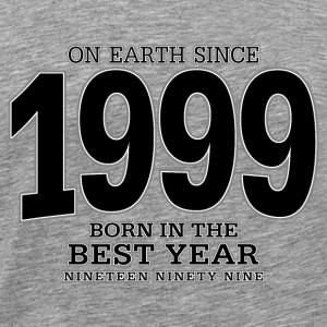 On Earth since 1999 (black) - Männer Premium T-Shirt