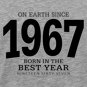 On Earth since 1967 (black) - Männer Premium T-Shirt