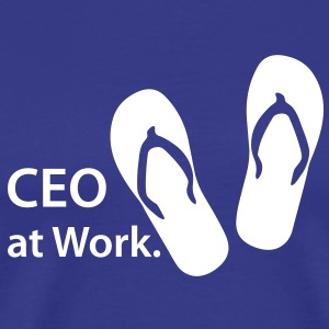 CEO at Work, Beach, Strand, Boss, Flip Flop - Männer Premium T-Shirt