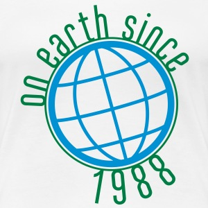 Birthday Design - (thin) on earth since 1988 (uk) T-Shirts - Women's Premium T-Shirt