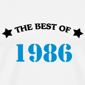 The best of 1986 T-Shirts - Männer Premium T-Shirt