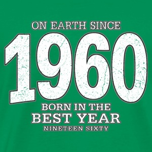 On Earth since 1960 (white oldstyle) - Männer Premium T-Shirt