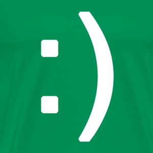 Happy smiley face in text T-shirts - Mannen Premium T-shirt