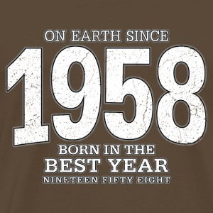On Earth since 1958 (white oldstyle) - Männer Premium T-Shirt