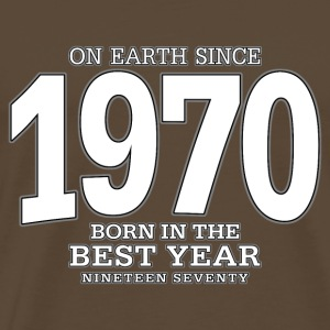 On Earth since 1970 (white) - Männer Premium T-Shirt