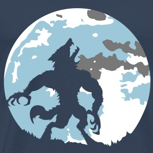 The werewolf in the moonlight T-Shirts - Men's Premium T-Shirt