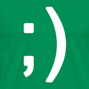 Winking smiley face in text T-shirts - Mannen Premium T-shirt