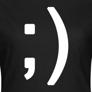 Winking smiley face in text T-shirts - Vrouwen T-shirt