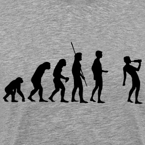 Evolution drikke  T-shirts - Herre premium T-shirt