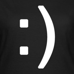 Happy smiley face in text T-shirts - Vrouwen T-shirt