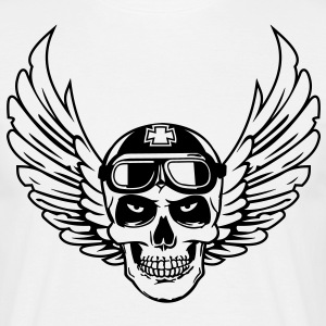 biker skull wings T-skjorter - T-skjorte for menn