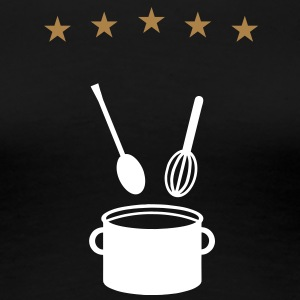 5 star pot - cook - V2 T-Shirts - Women's Premium T-Shirt