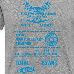 85 ans addition note resto restaur fact Tee shirts - T-shirt Premium Homme