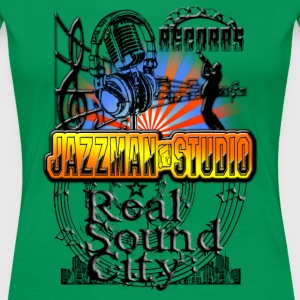 records jazzman studio real sound city T-Shirts - Women's Premium T-Shirt