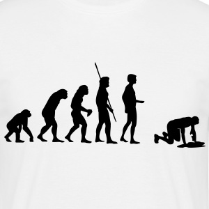 Evolution puke  T-skjorter - T-skjorte for menn