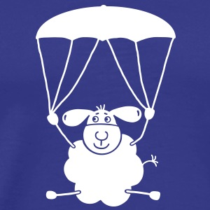 Sheep with parachute T-Shirts - Men's Premium T-Shirt