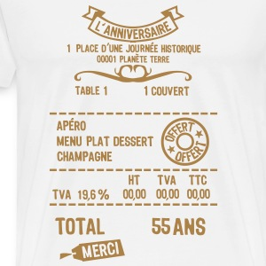 55 ans addition note resto restaur fact Tee shirts - T-shirt Premium Homme