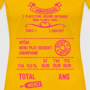 age mettre addition note resto restaur f Tee shirts - T-shirt Premium Femme