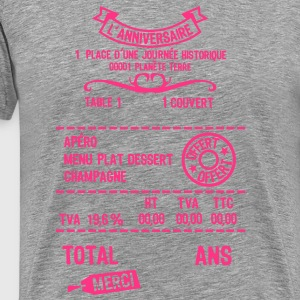 age mettre addition note resto restaur f Tee shirts - T-shirt Premium Homme